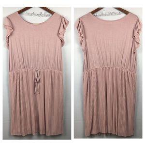 MODCLOTH Fervour Cap Sleeve Pleated Dress 2X